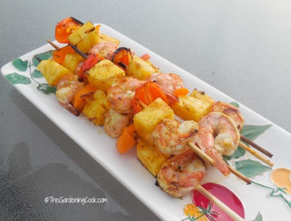Grilled Caribbean Shrimp Kebabs