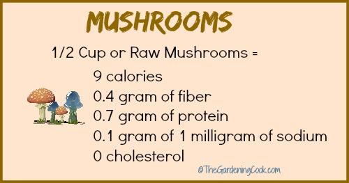 Mushroom Nutritional Information
