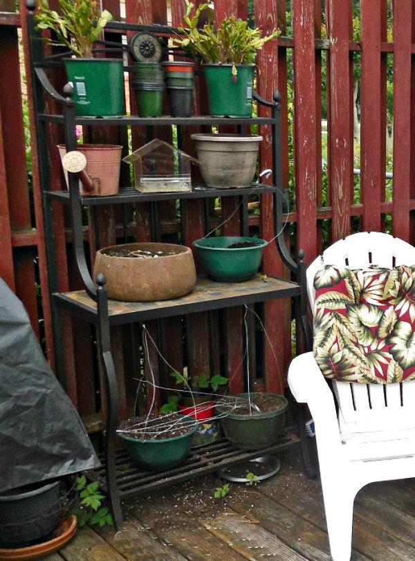 Garden deck work area