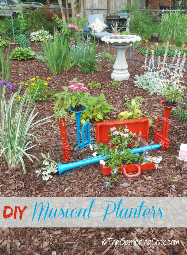 Ring in the Sounds of the seasons with these musical planters. So whimsical and fun to make!