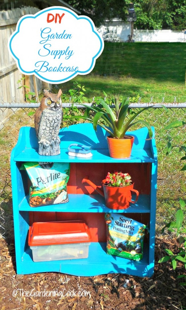 See the transformation of my DIY Bookcase Garden Make Over. From trash to treasure!