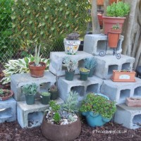 DIY Cement Blocks planter