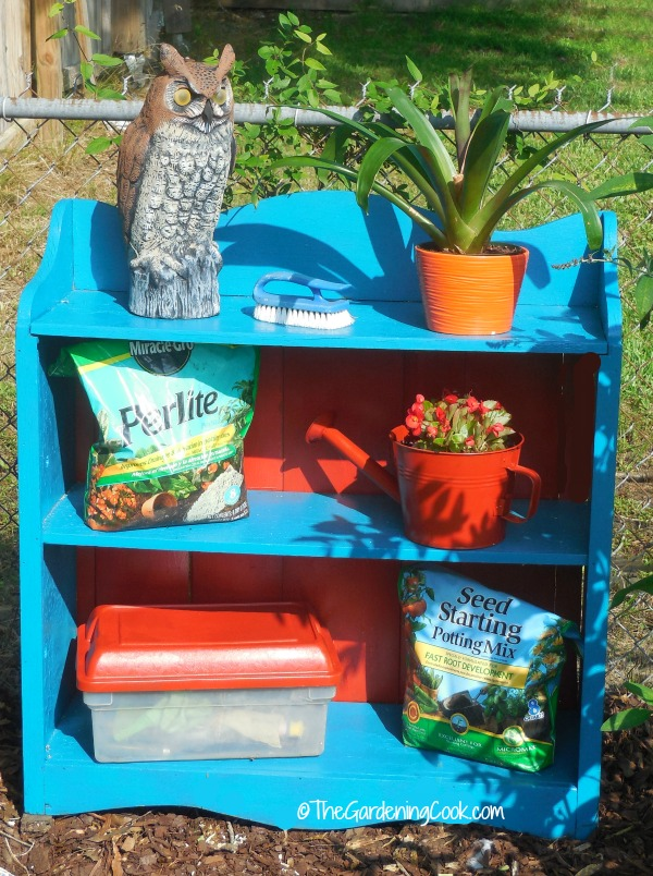 DIY garden book case