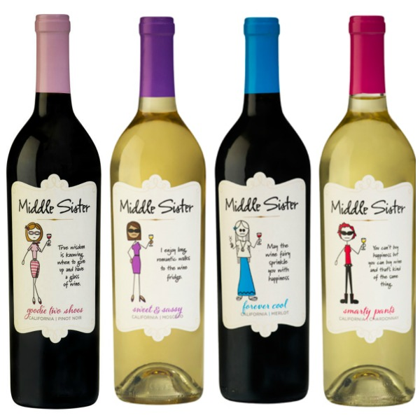 Four Middle Sister wines