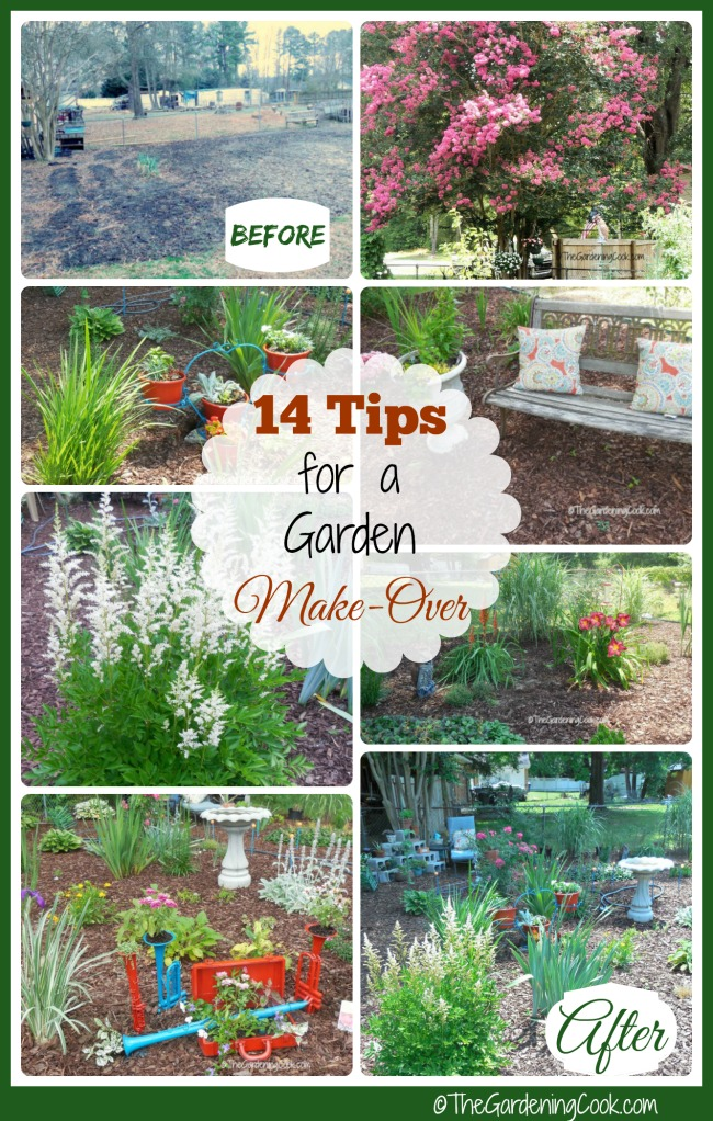 See my 14 tips for a successful garden Makeover and turn your space from ugly to lovely