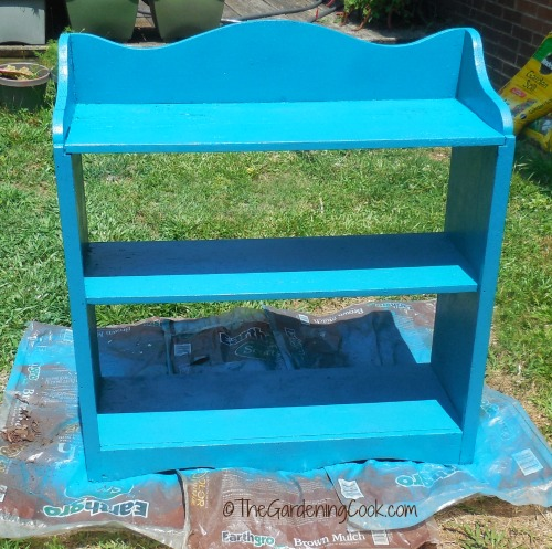 painted book case