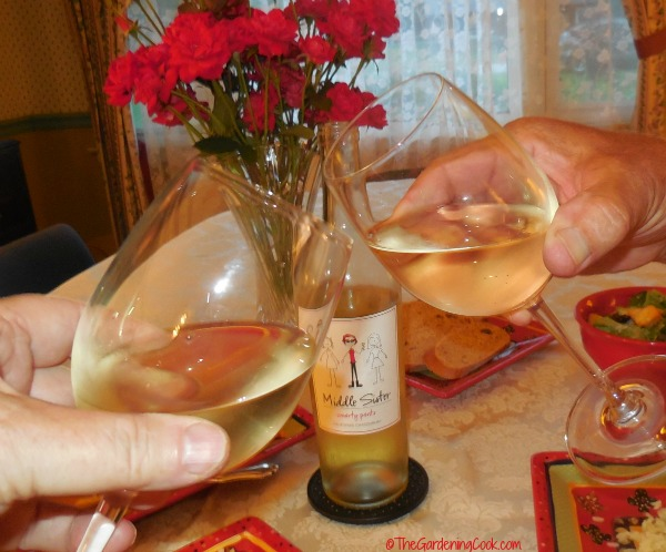 Toasting my middle sisters with Smarty Pants Chardonnay
