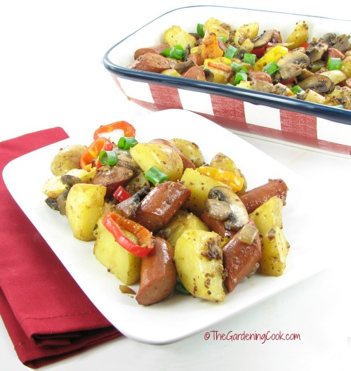 Summer time Hot Dog & Vegetable Stir Fry
