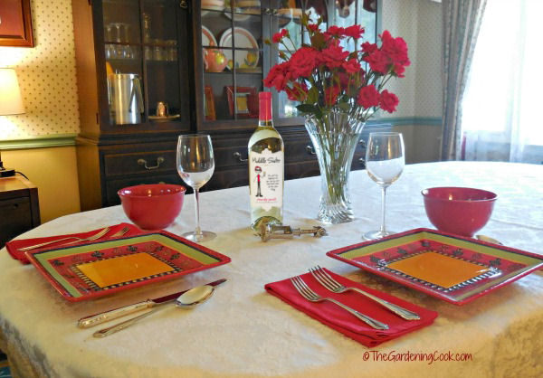 Table setting wtih Middle Sister Wine