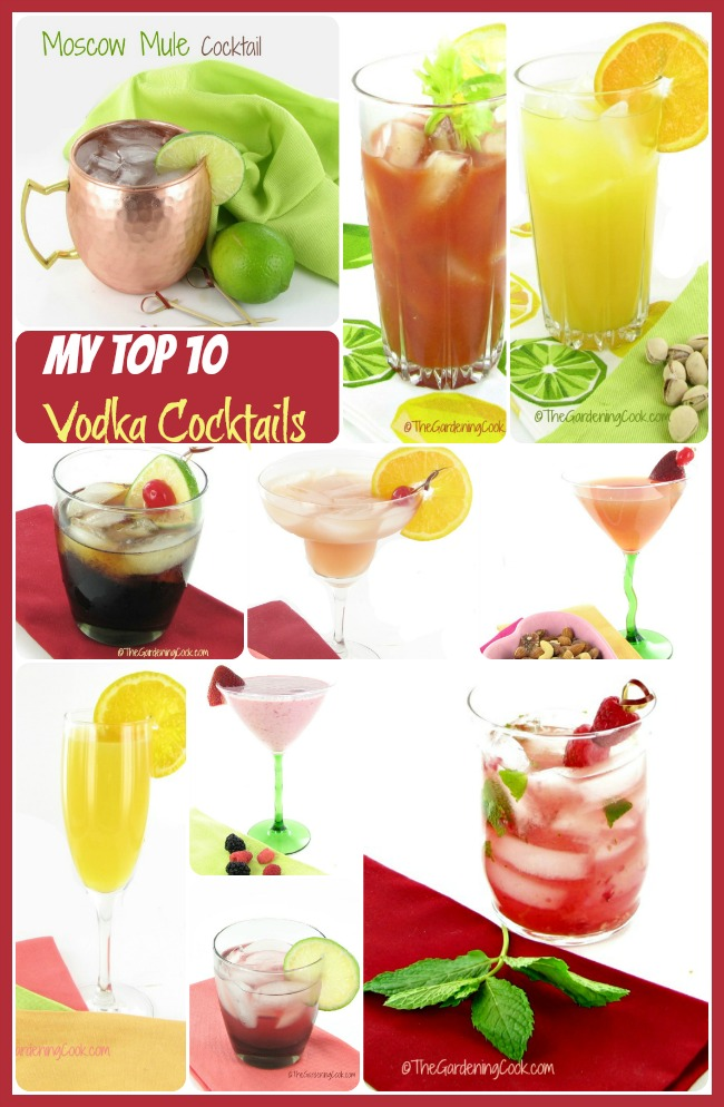 It is cocktail time. Celebrate with one of my top10 favorite vodka drinks