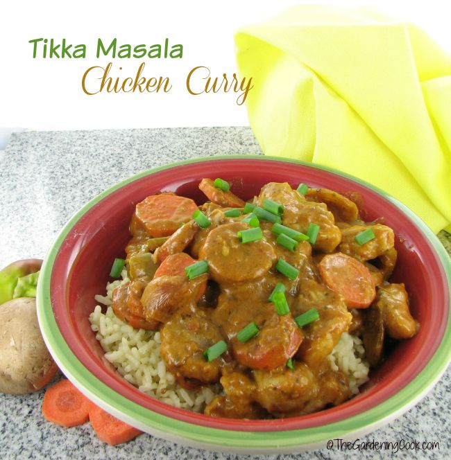 This Savory chicken Tikka Masala curry has just a hint of heat but not too much.