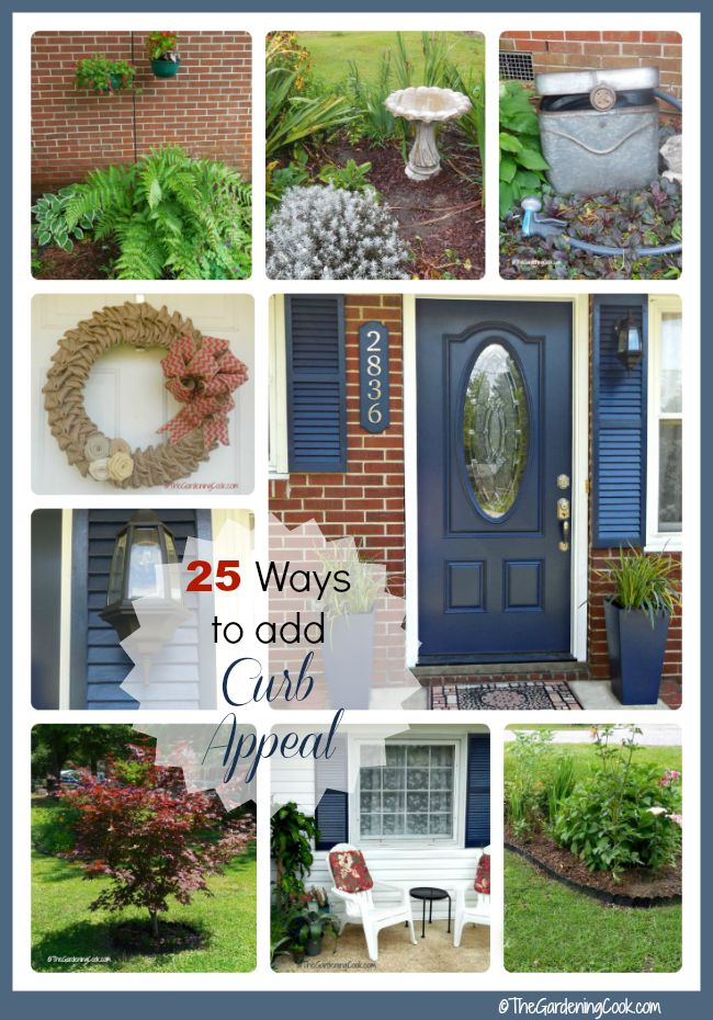 You can only make one first impression! See my 25 Tips to create curb appeal. #ad #GilmourGardens #GilmourGardening @gilmourgarden