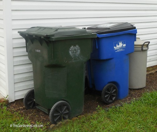 Garbage bins on the side of the house are less of an eyesore