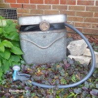 DIY galvanized hose pot