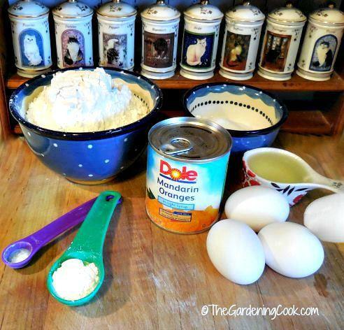 Ingredients for the Dole Mandarine cake