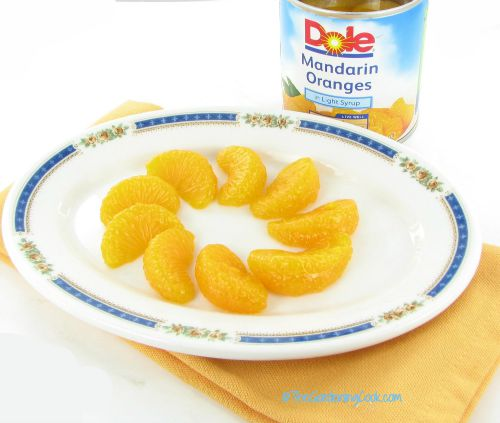 Mandarin orange slices for decorating the top of the cake