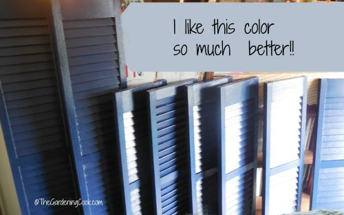 Shutters in the new color