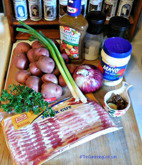 ingredients for potato salad
