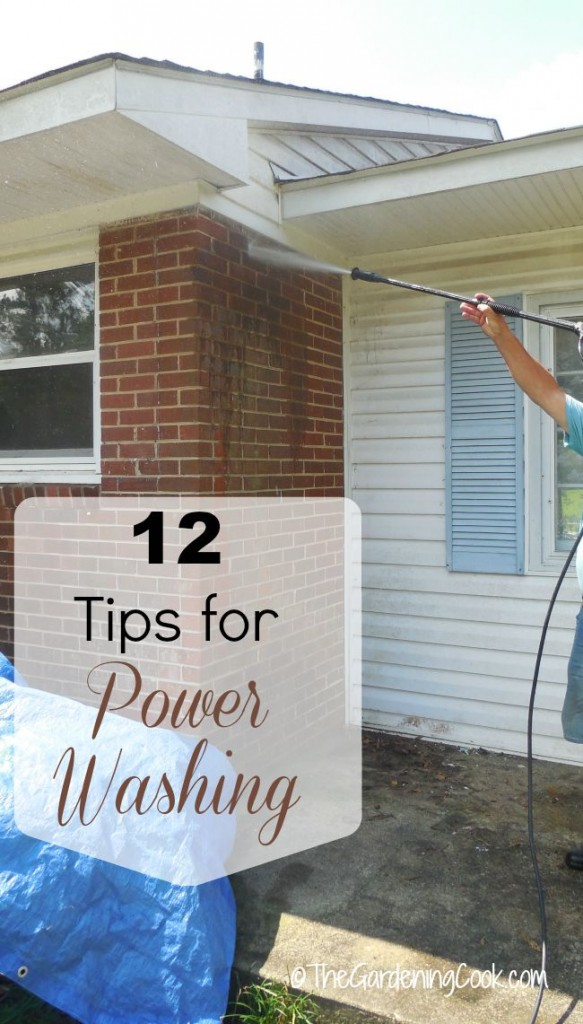 12 power washing tips to make your house look like new in no time at all. thegardeningcook.com