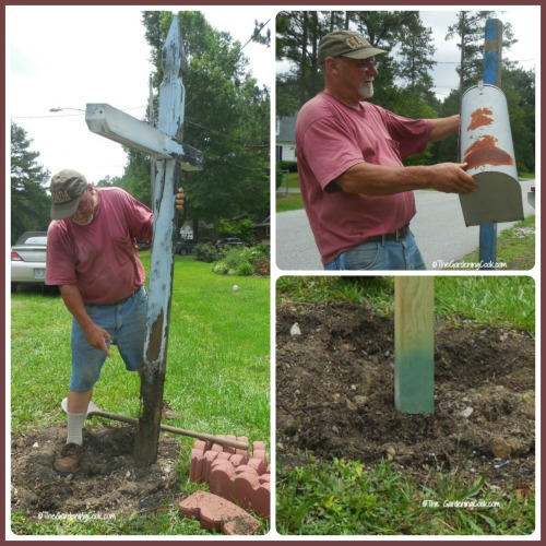 removing old mailbox post