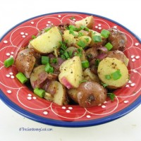 Warm Tuscan bacon Potato salad