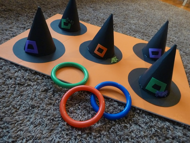 Witch's hat toss game from spaceshipsandlaserbeams.com