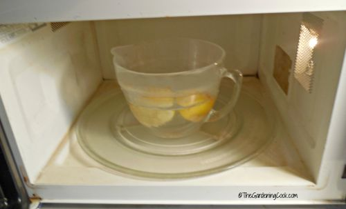 Lemon water in the microwave
