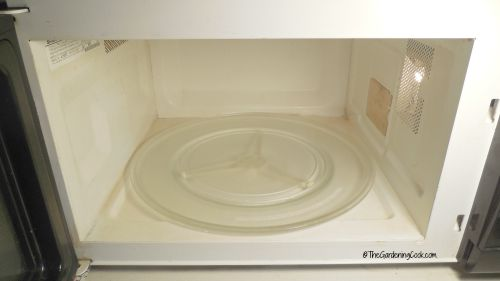 clean microwave after