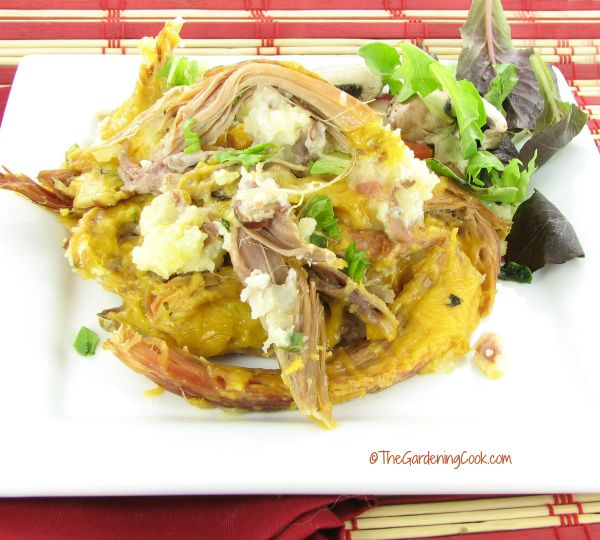 Loaded potatoe and pulled pork casserole