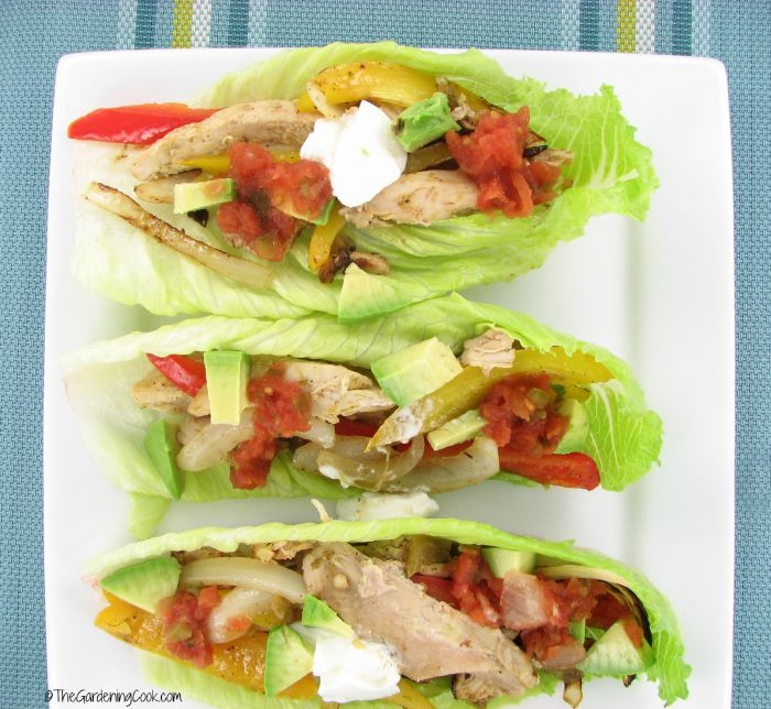 Low carb easy chicken fajitas
