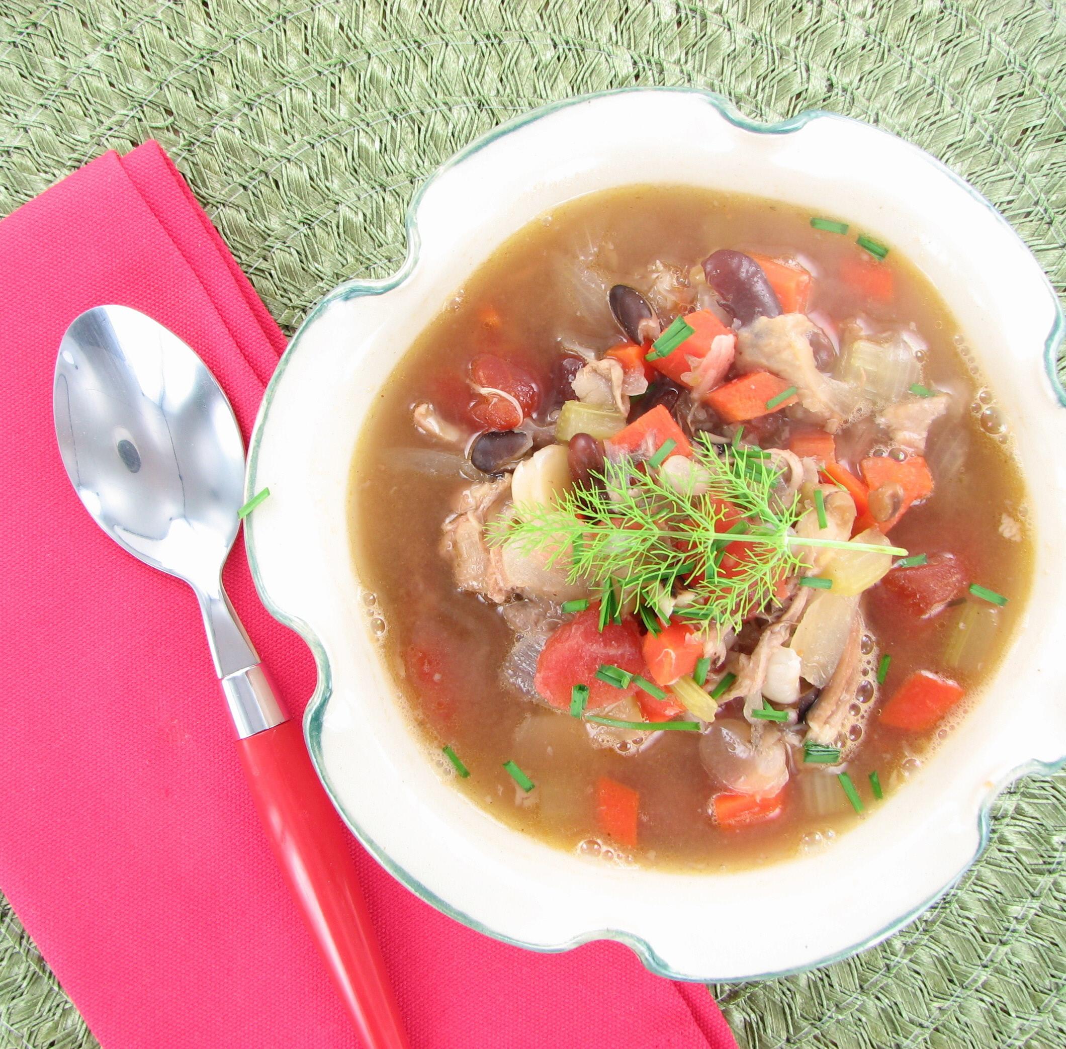 Taco chicken 15 bean soup