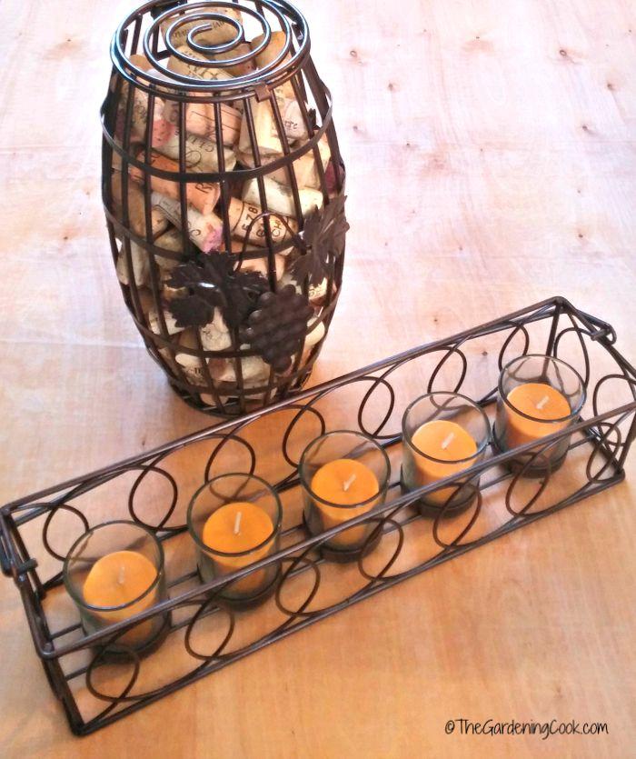 Cork holder and candle holder