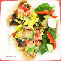 gluten free black bean pizza