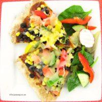 gluten free black bean pizza