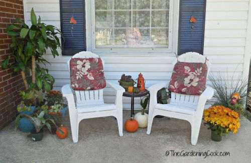 fall patio makeover