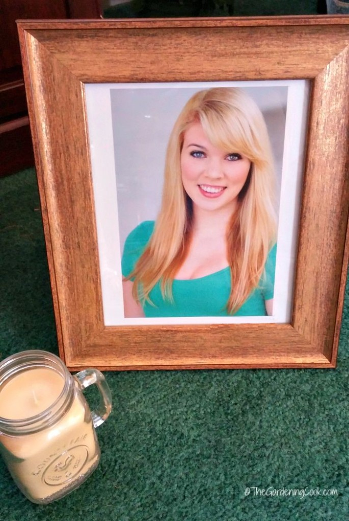 Picture and mason jar candle