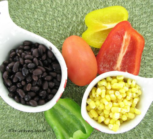 ingredients for gluten free black bean pizza