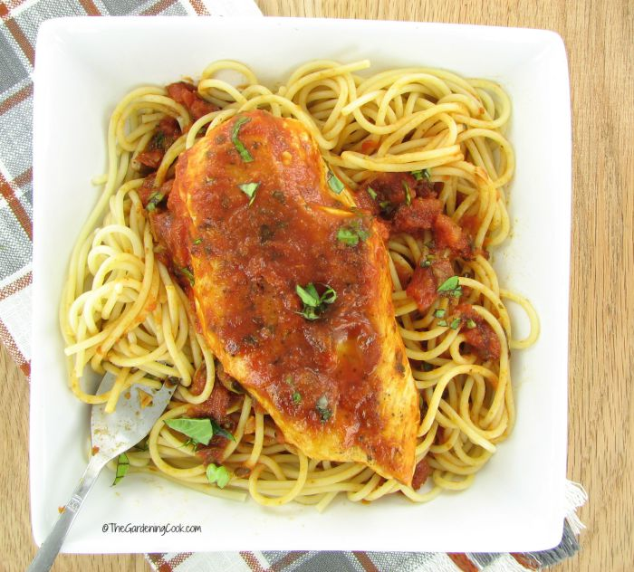 Tuscan inspired Tomato basil chicken