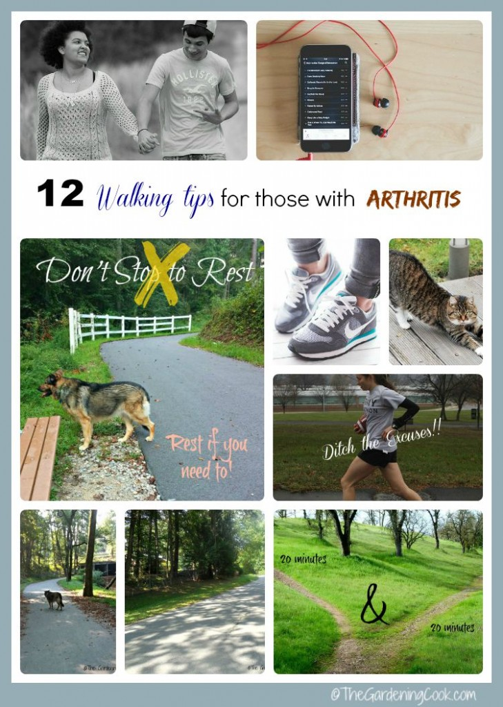 Don't let arthritis keep you from exercising. See my 12 walking tips to make it easier if you have sore joints
