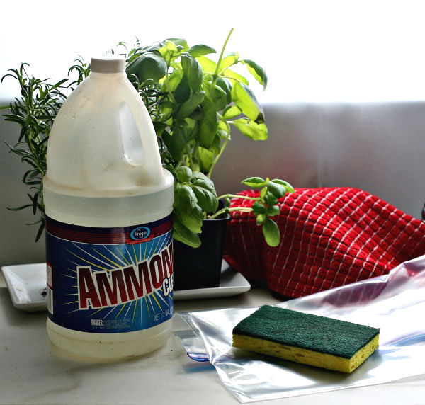 Use ammonia, scotch brite pads and a ziplock bag for easy drip pan burner cleaning