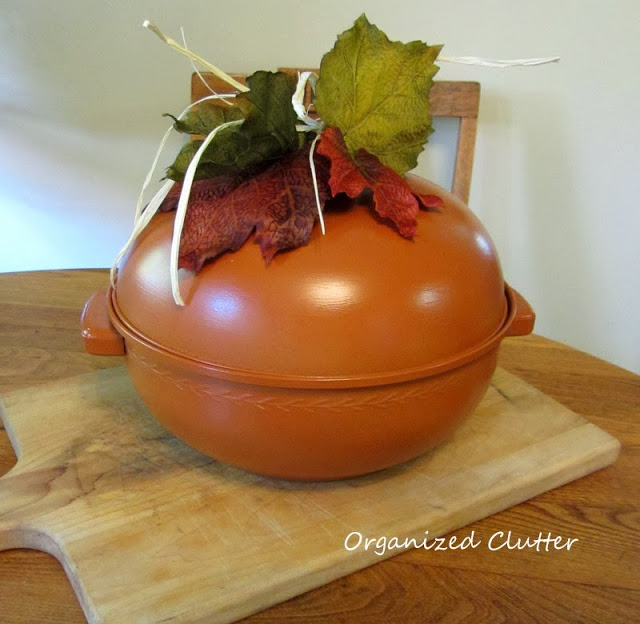 Bun warmer pumpkin from organizedclutter.net