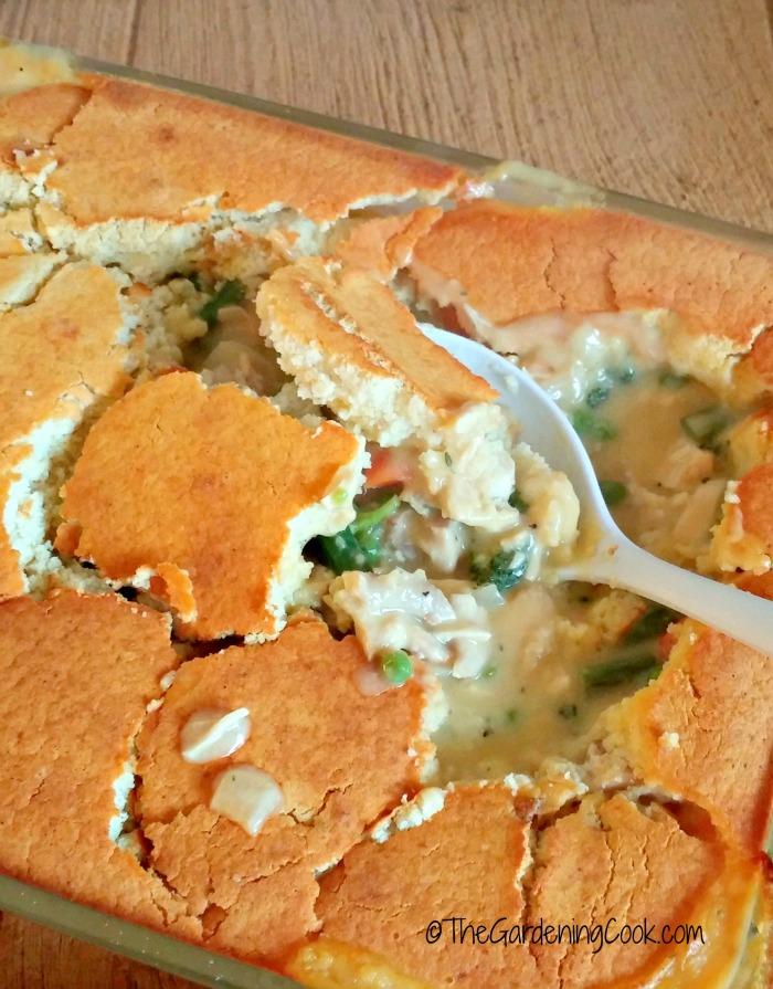 crust of the chicken pot pie