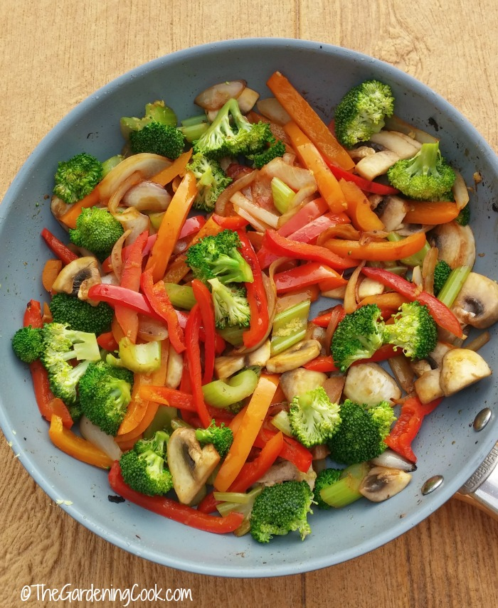 vegetables for spicy szechuan pork stir fry