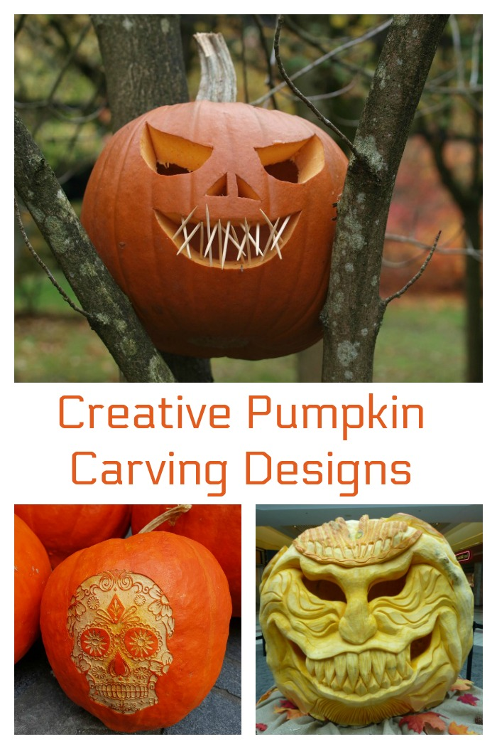 These creative pumpkin carving designs for inspiration for your Halloween project