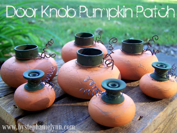 door knob pumpkins from bystephanielynn.com