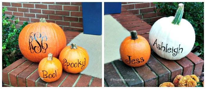 Monogrammed pumpkins