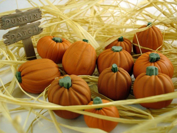 Polymer clay pumpkins from craftygoat.com