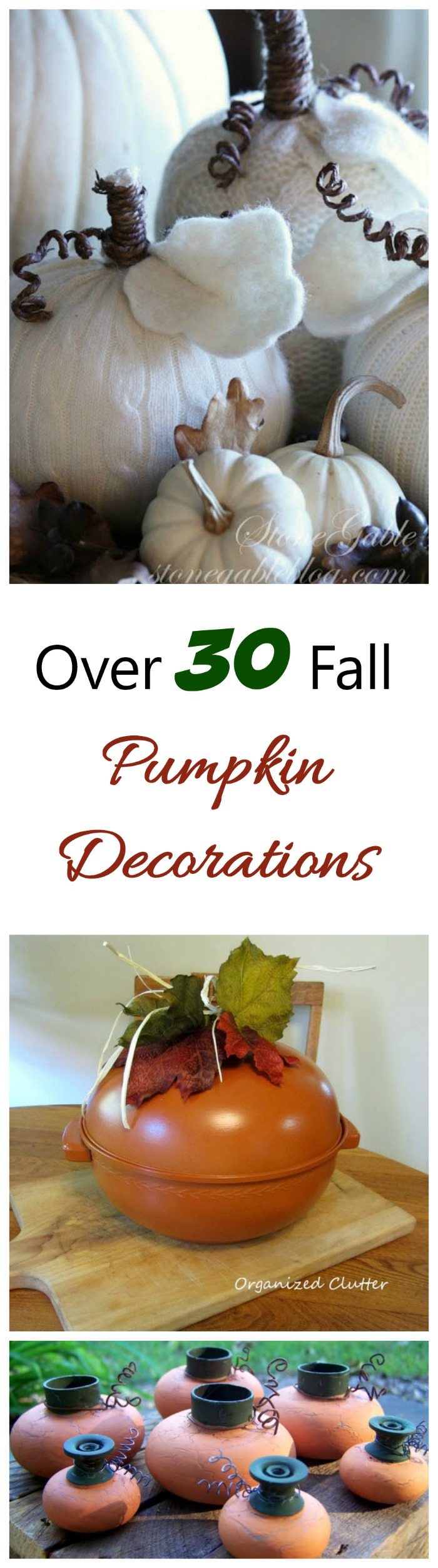 It's pumpkin season. Decorate in style with one of these 30+ pumpkin decor projects #pumpkindiy