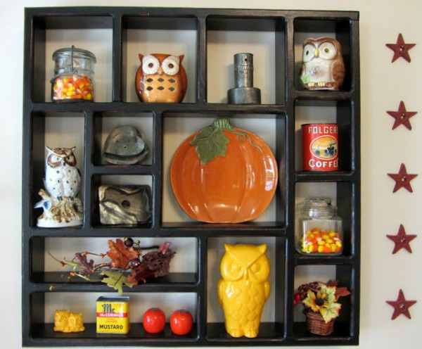 autumn shadow box from organizedclutter.net