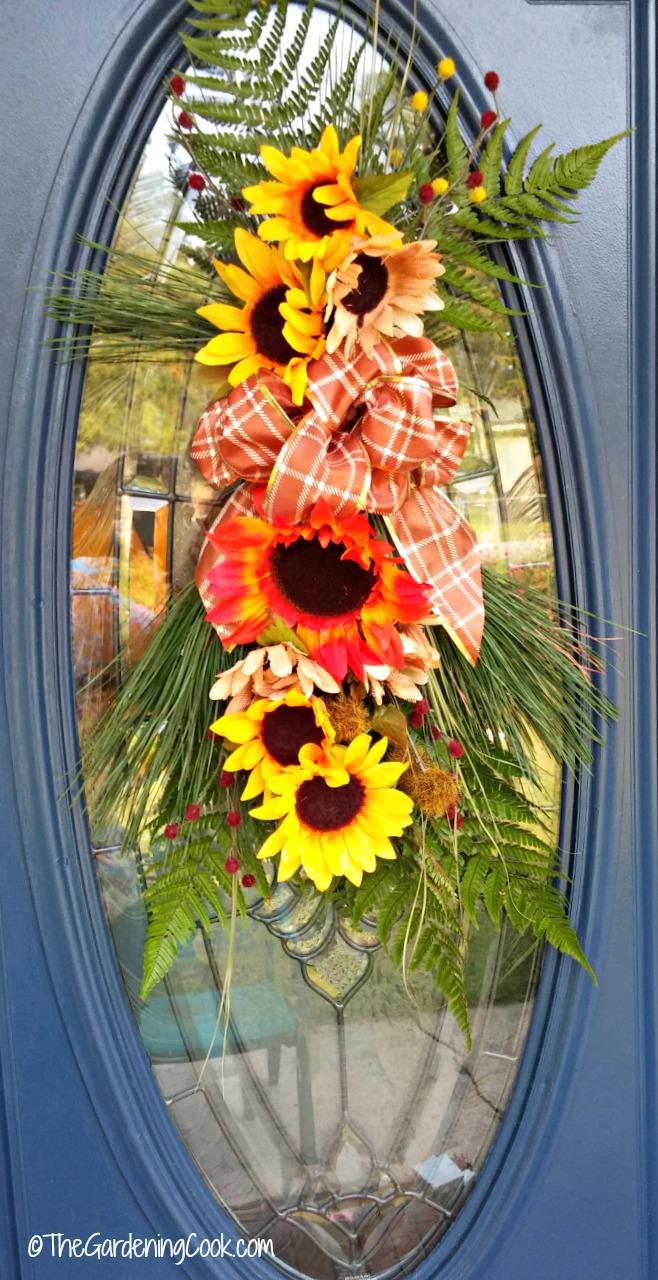 Autumn door swag.